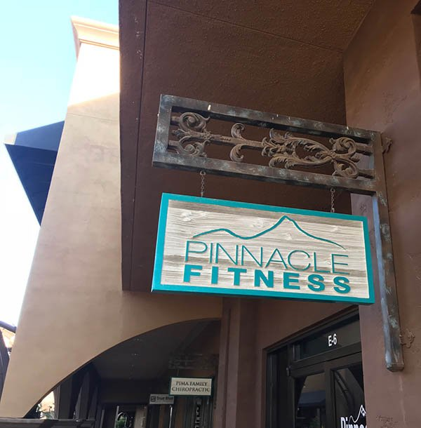pinnacle fitness sign