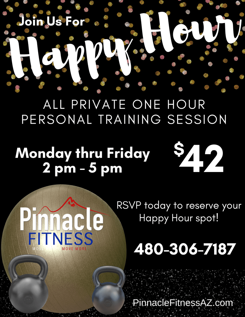 happy hour personal training session