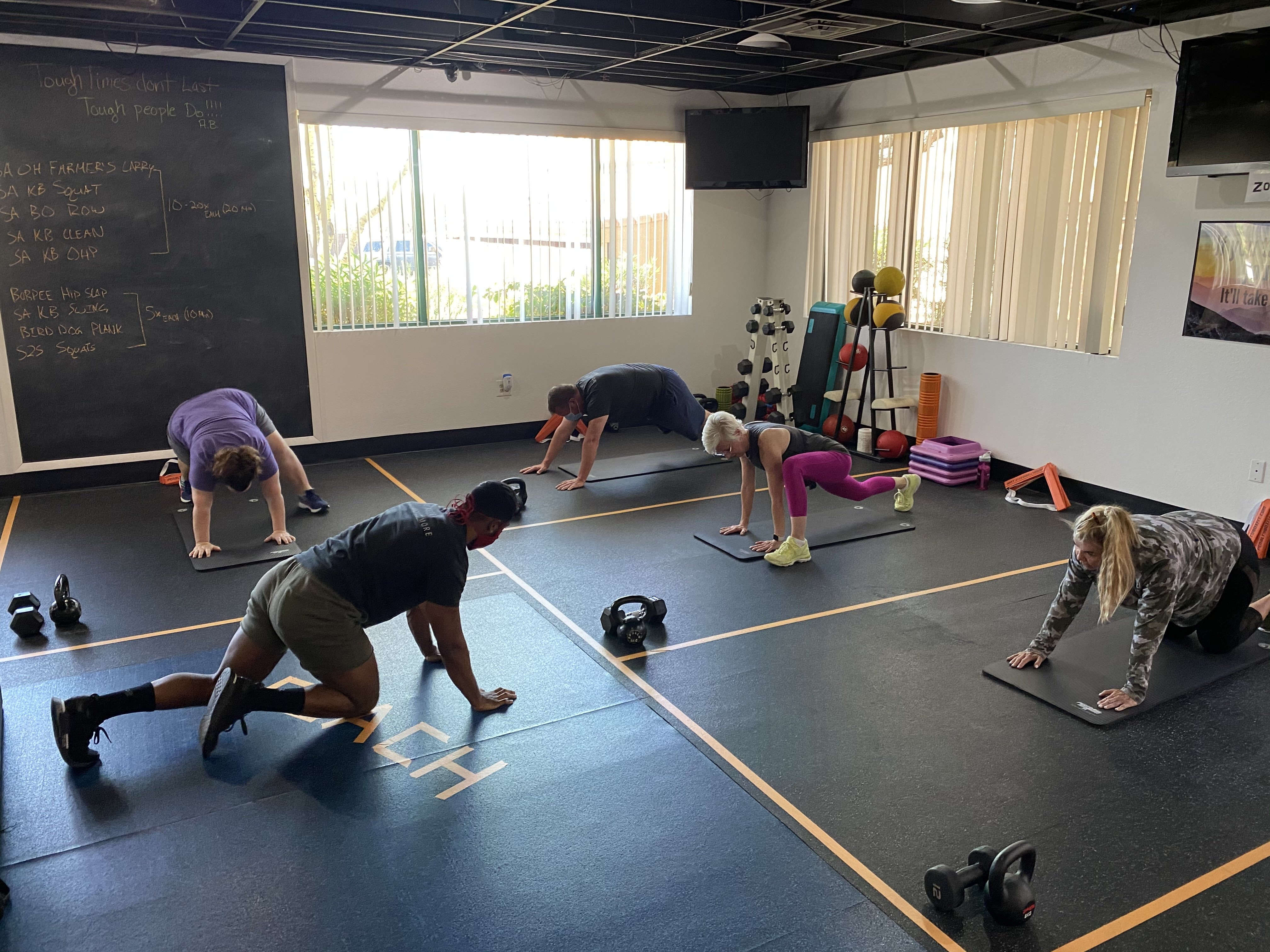 Social Distance Workouts at Pinnacle Fitness