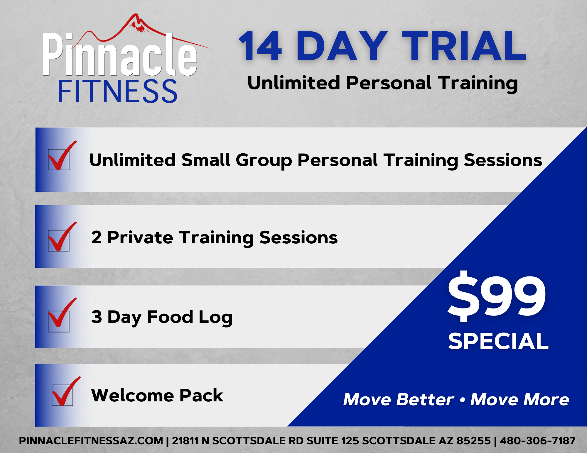 14 Day Trial at Pinnacle Fitness Scottsdale